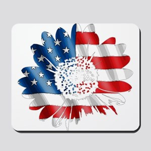 Patriotic Sunflower Mousepad