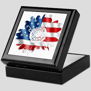 Patriotic Sunflower Keepsake Box