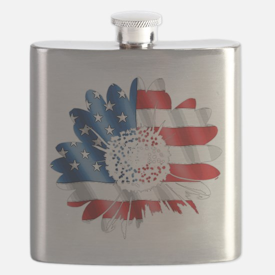 Patriotic Sunflower Flask