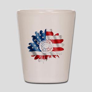 Patriotic Sunflower Shot Glass