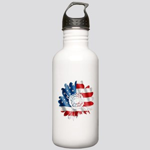 Patriotic Sunflower Stainless Water Bottle 1.0L