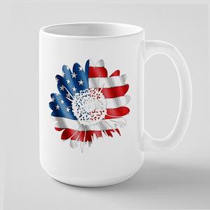 Patriotic Sunflower Large Mug