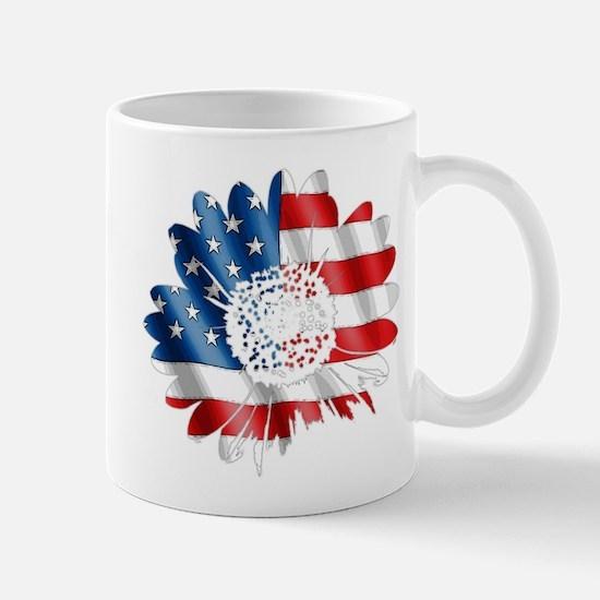 Patriotic Sunflower Mug