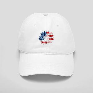 Patriotic Sunflower Cap