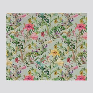 Colorful Floral Pattern Throw Blanket