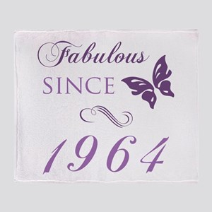 Fabulous Since 1964 Throw Blanket