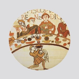 Bayeux Tapestry Feast Round Ornament