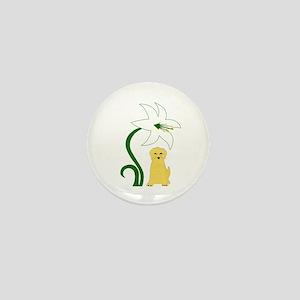 Easter Yellow Lab II Mini Button