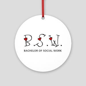 BSW Hearts (Design 2) Ornament (Round)