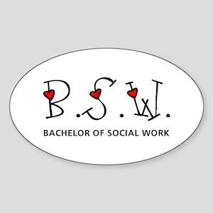 BSW Hearts (Design 2) Oval Sticker
