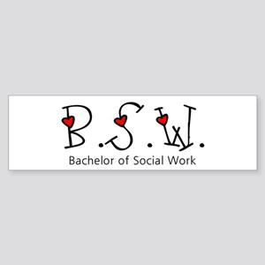 BSW Hearts (Design 2) Bumper Sticker
