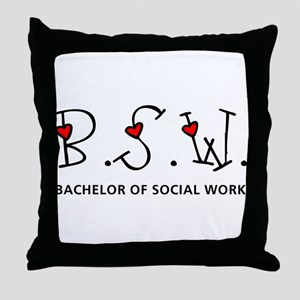 BSW Hearts (Design 2) Throw Pillow