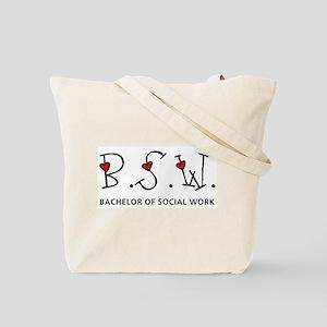BSW Hearts (Design 2) Tote Bag