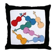 Colorful Violins - Throw Pillow