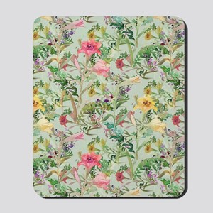 Colorful Floral Pattern Mousepad