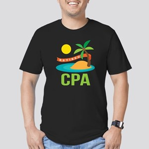 Retired CPA Men's Fitted T-Shirt (dark)