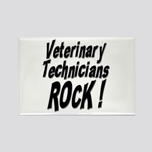 Veterinary Techs Rock ! Rectangle Magnet