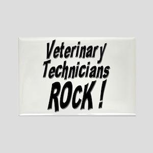 Veterinary Techs Rock ! Rectangle Magnet