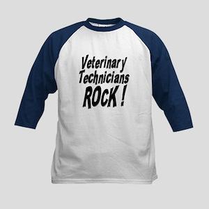 Veterinary Techs Rock ! Kids Baseball Jersey