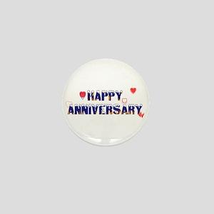Happy Anniversary-melt Mini Button