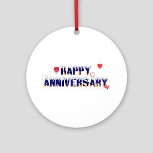Happy Anniversary-melt Ornament (Round)