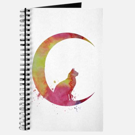 Cat sitting on the moon Journal