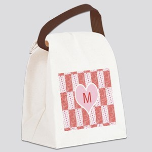 Customize Monogram Valentine Canvas Lunch Bag