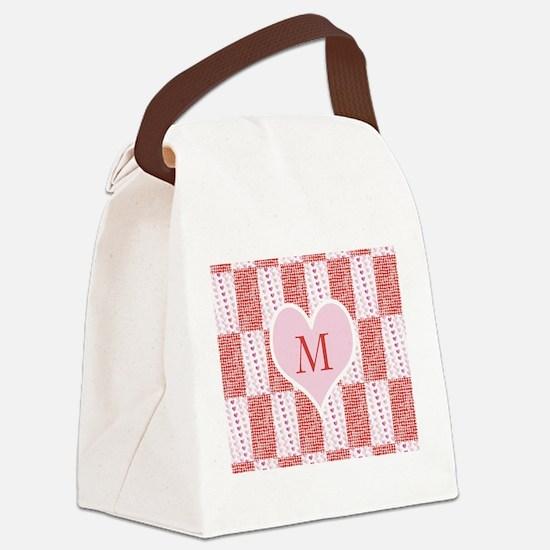 Customize Monogram Valentine Canvas Lunch Bag
