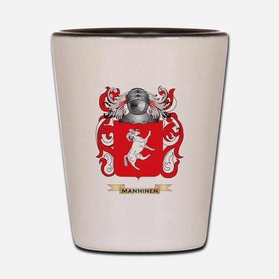 Manninen Coat of Arms - Family Crest Shot Glass