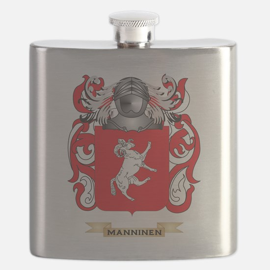 Manninen Coat of Arms - Family Crest Flask