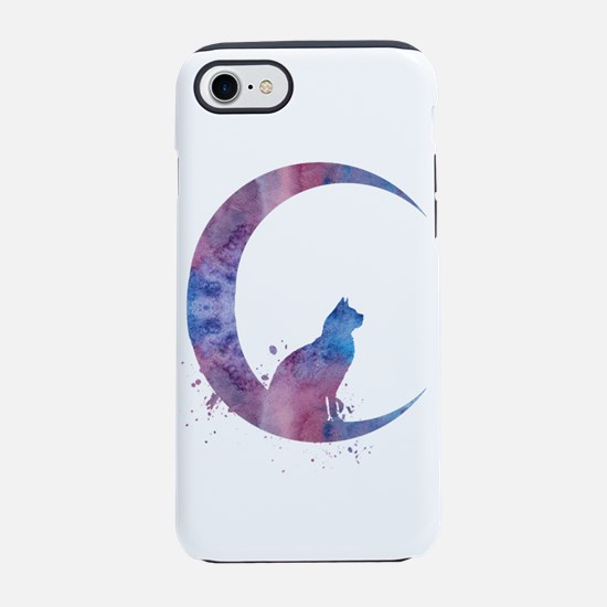 Cat sitting on the moon iPhone 7 Tough Case