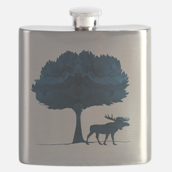 Cute Animal silhouette picture Flask
