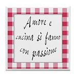Amore Cucina Passione Tile Coaster