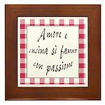 Amore Cucina Passione Framed Tile