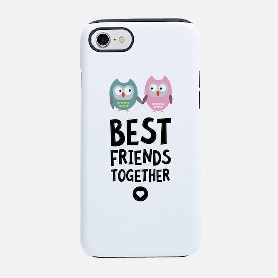 Owls Best friends Heart iPhone 7 Tough Case