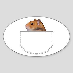 Hamster pocket pal Oval Sticker