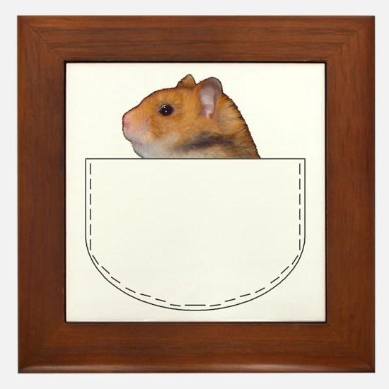 Hamster pocket pal Framed Tile