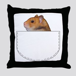 Hamster pocket pal Throw Pillow