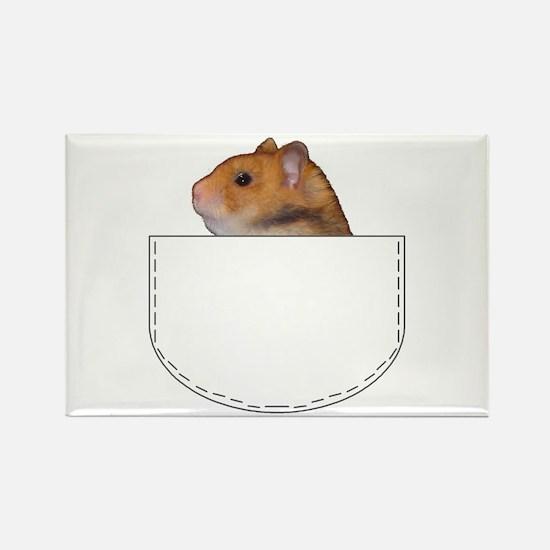 Hamster pocket pal Rectangle Magnet