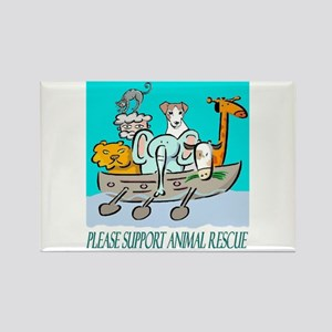 ANIMAL RESCUE Rectangle Magnet
