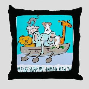 ANIMAL RESCUE Throw Pillow