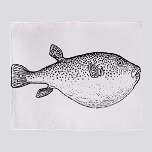 Puffer Fish Throw Blanket