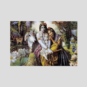 Lord Krishna Rectangle Magnet