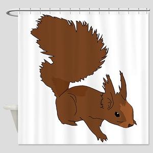 Brown Squirrel Shower Curtain