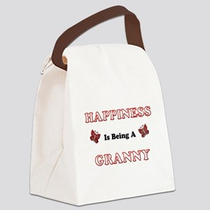 Happiness Is Being A Granny Canvas Lunch Bag