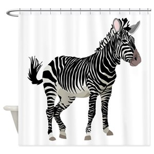 Black And White Zebra Shower Curtains