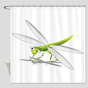 Cartoon Dragonfly Shower Curtain