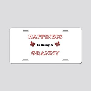 Happiness Is Being A Granny Aluminum License Plate