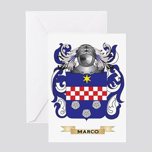 Marco Coat of Arms - Family Crest Greeting Card
