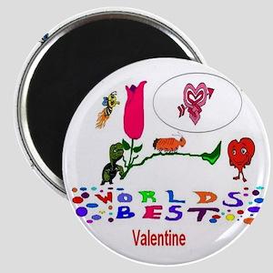 Worlds Best Valentine Magnet
